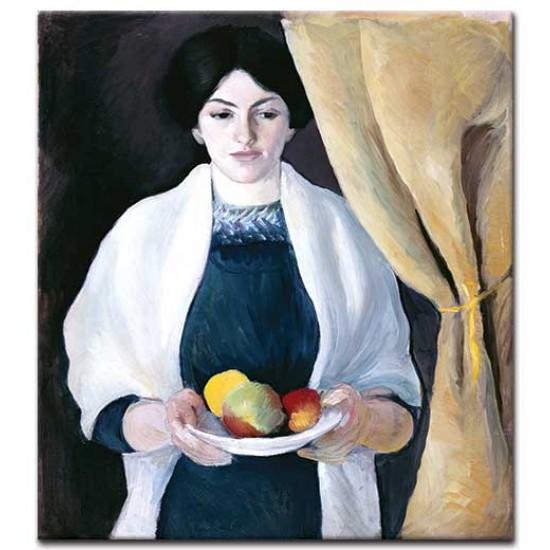 דיוקן עם תפוחים