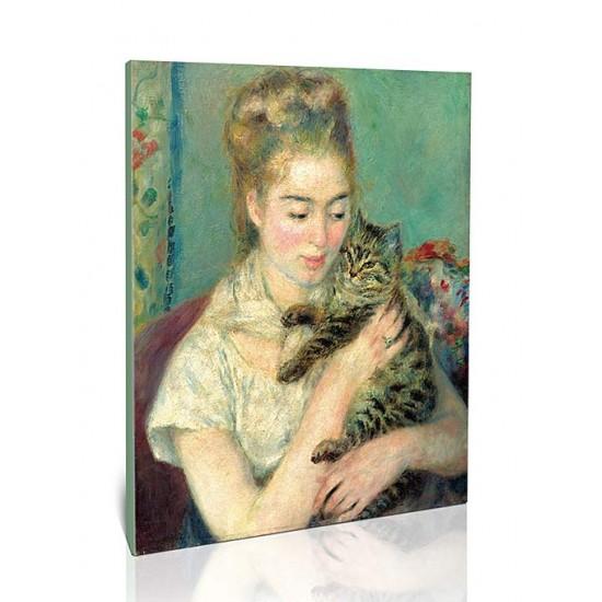 אישה עם חתול