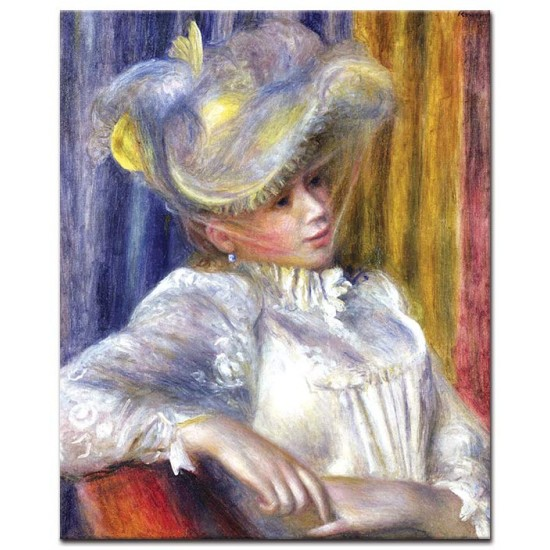 אישה עם כובע