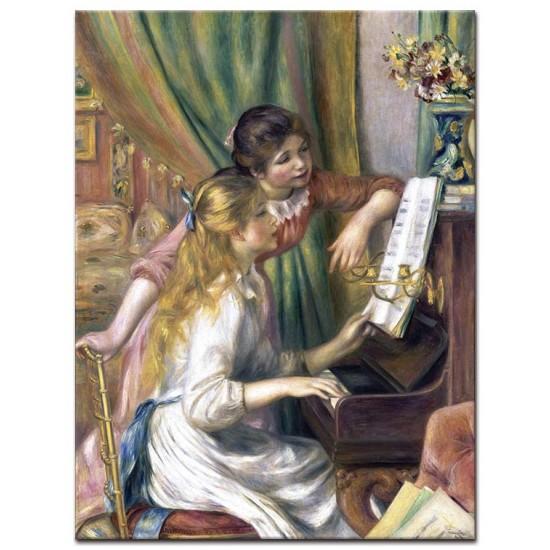 נשים צעירות ליד הפסנתר