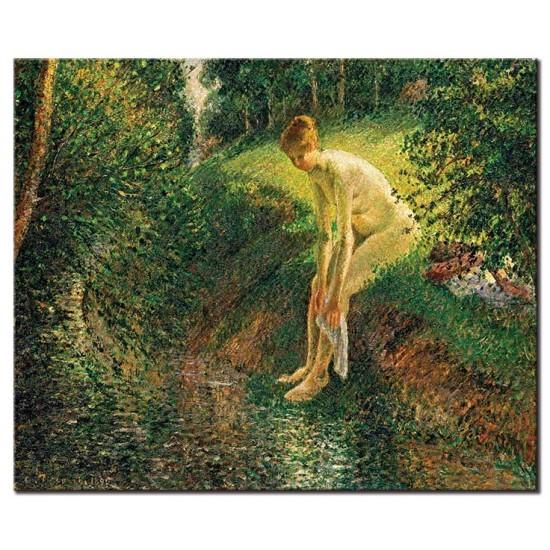 רוחצת ביער
