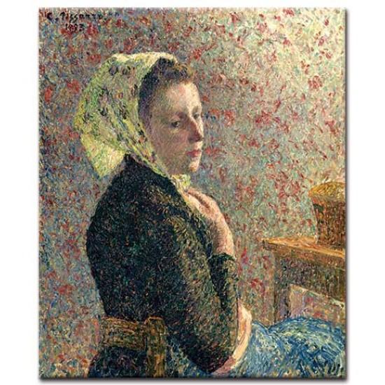 אישה במטפחת ירוקה