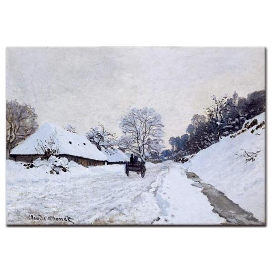 עגלה על השלג