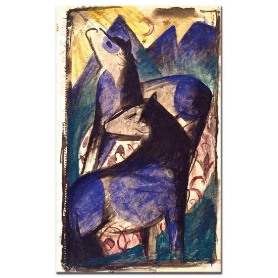 שני סוסים כחולים