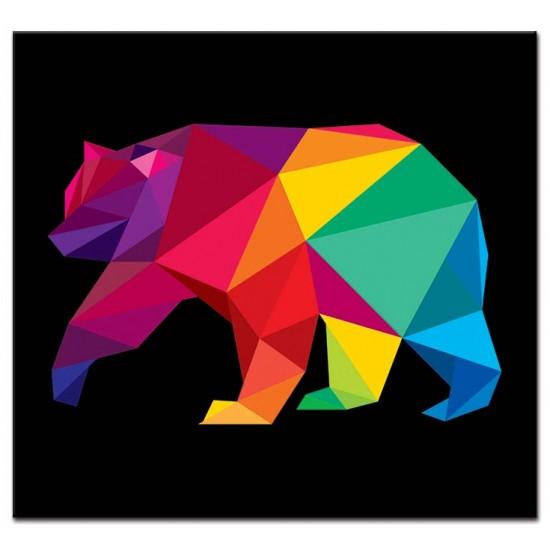 דוב על רקע שחור