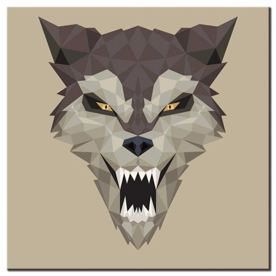 זאב חושף שיניים