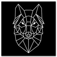 זאב על רקע שחור