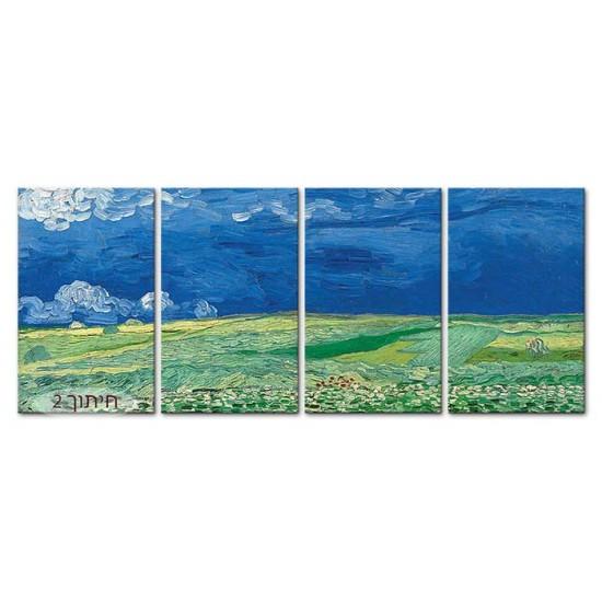 שדה חיטה תחת ענני סערה