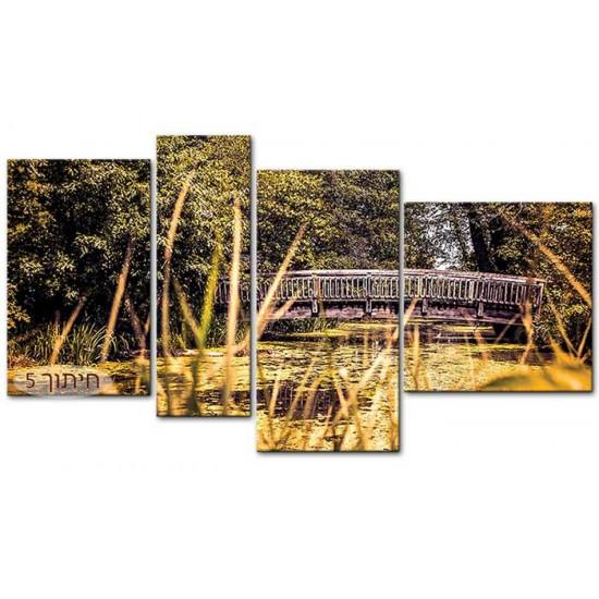 גשר מעל בריכה