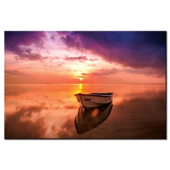 סירה בשקיעה