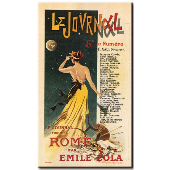 Le Journal Publish in Rome by Emile Zola